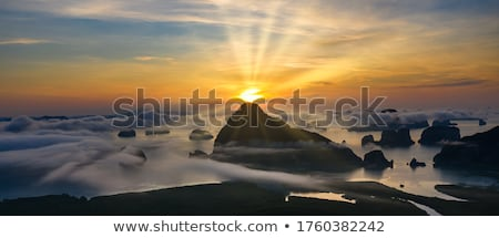 Morning light on the island Stock photo © trala
