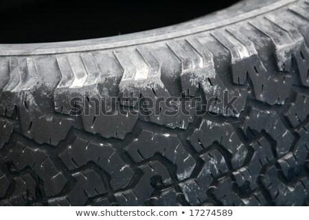Egyenetlen fekete autógumi autógumi cél kéz Stock fotó © imagex