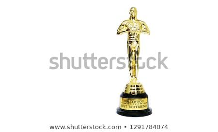 oscar award on white background stock photo © frameangel
