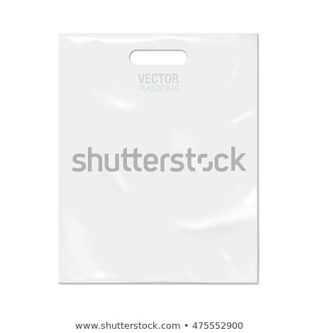 a clean plastic bag on white background Stock photo © butenkow