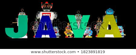 Robot holding HI sign. Technology concept. Stock photo © Kirill_M
