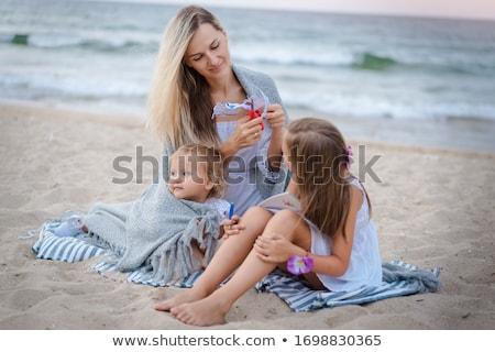 menino · enterrado · praia · criança · diversão - foto stock © monkey_business