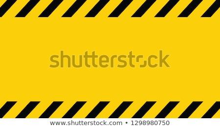 Ostrożność podpisania cartoon sylwetka mężczyzna obiektu Zdjęcia stock © blamb