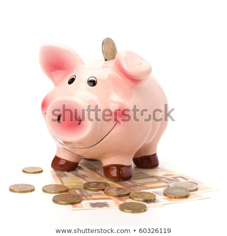 Business concept. Lucky piggy bank isolated on white background. Stock photo © natika