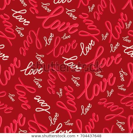 Rouge coeurs texture résumé coeur Photo stock © gladiolus