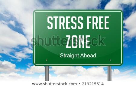 Estresse livre rodovia poste de sinalização estrada saúde Foto stock © tashatuvango