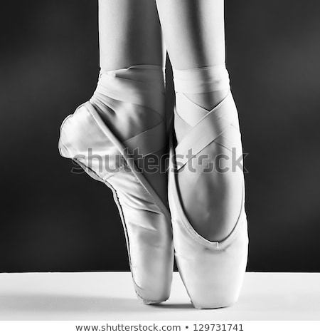 Pointed feet in ballet shoes Stock photo © d13