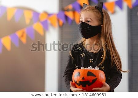 halloween · trükk · gyerekek · visel · jelmezek · buli - stock fotó © lenm