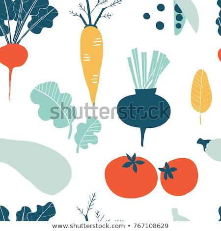 Sem costura legumes padrão cenouras textura comida Foto stock © elenapro