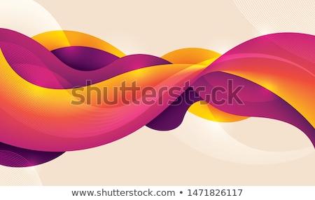 vektor · névjegy · absztrakt · hullámos · vonal · terv - stock fotó © saicle