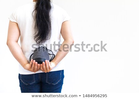 woman appear behind her hands Stock photo © Aitormmfoto