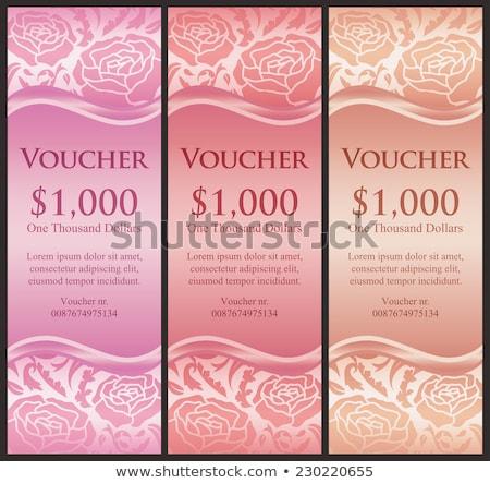 Vertical vale aumentó decoración rosa decorativo Foto stock © liliwhite