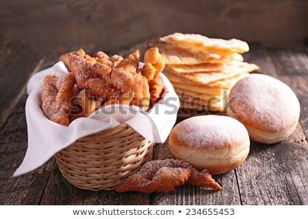 Angyalszárnyak fánk reggeli pékség barna finom Stock fotó © M-studio