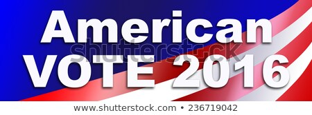 Sticker democraat 2016 presidents- verkiezing USA Stockfoto © rcarner