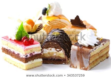 vegan · csokoládé · hab · csokoládé · háttér · desszert · friss - stock fotó © sarymsakov