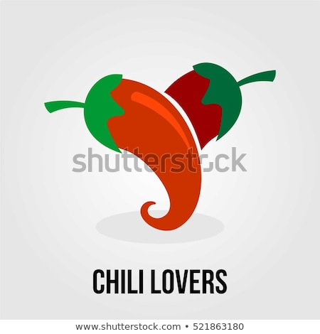 red and green chili peppers in love stock photo © bsani