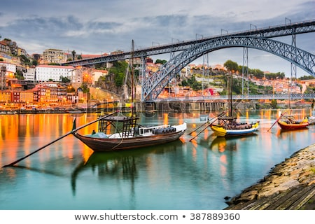 brug · Portugal · hemel · metaal · zomer · reizen - stockfoto © joyr