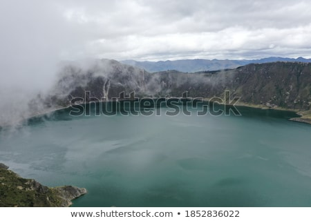 Beautiful view of the Lake in Crater Volcano Covered with Forest Stock photo © Discovod