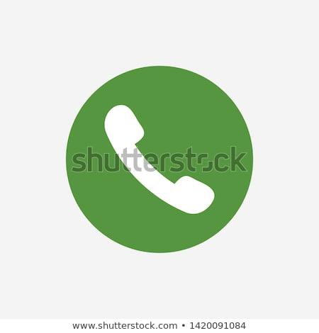 Phone Green Vector Icon Button Stock photo © rizwanali3d