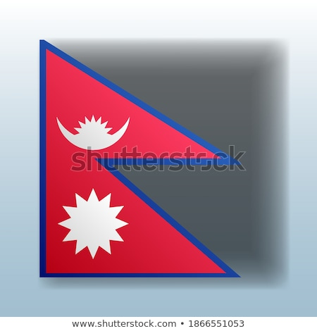 Knop symbool Nepal vlag kaart witte Stockfoto © mayboro1964