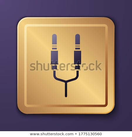 Plug знак Purple вектора икона дизайна Сток-фото © rizwanali3d