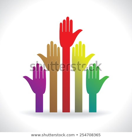 many stand hands colorful human rights concept stock photo © vgarts
