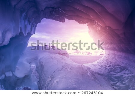 Violet Ice cave in Antarctica Stock photo © goinyk