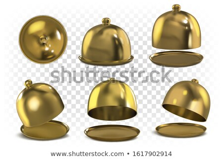 Isolated gold open tray on a white background. Stock photo © ZARost