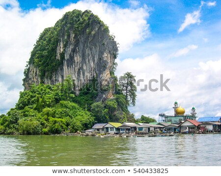 Fisherman village at Koh Panyee or Punyi island in summer Stock photo © Yongkiet