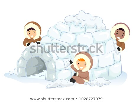 Cartoon igloo Stock photo © kariiika