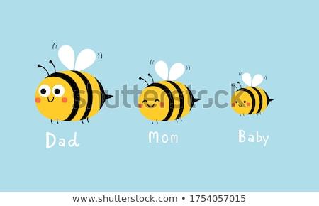 bonitinho · abelha · ilustração · desenho · animado · sorrir - foto stock © viva