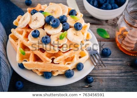 Fresh fruit and pastries for breakfast Stock photo © ozgur