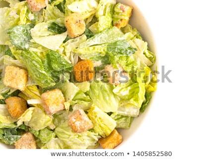 Caesar Salad on white Stock photo © master1305