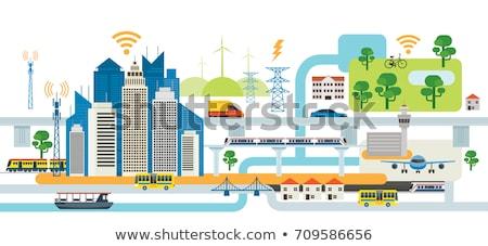 şehir altyapı planlama yollar binalar yeşil Stok fotoğraf © kentoh