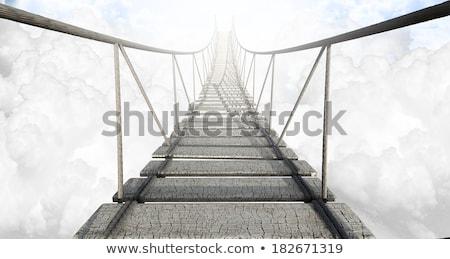 веревку · моста · облака · доски - Сток-фото © w20er