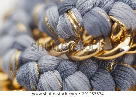 Details of a Chain and Wool Jewelry Necklace Stock photo © NicoletaIonescu