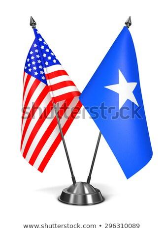 USA Somalia miniatura bandiere isolato bianco Foto d'archivio © tashatuvango