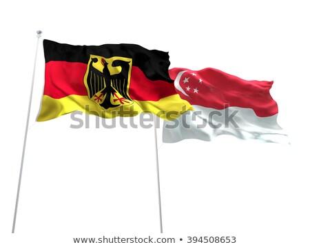 Alemanha Cingapura bandeiras quebra-cabeça isolado branco Foto stock © Istanbul2009