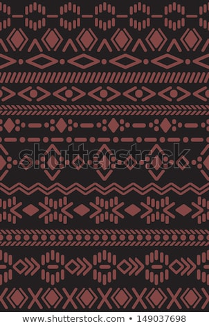 wild west colored hand drawn pattern stock photo © netkov1