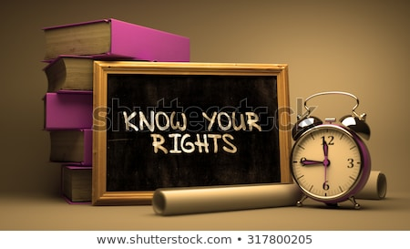Know Your Rights Handwritten on Chalkboard. Stock photo © tashatuvango