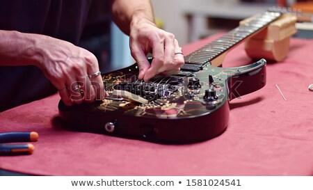 音楽 ギター 岩 ジャズ 新しい 文字列 ストックフォト © Hofmeester