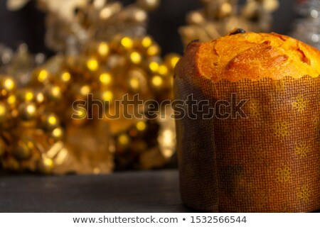 Italian Panettone in Christmas Setting Stock photo © rojoimages