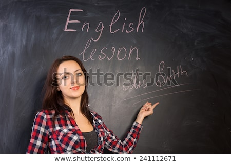 Stock photo: Learn English Handwritten on Chalkboard.