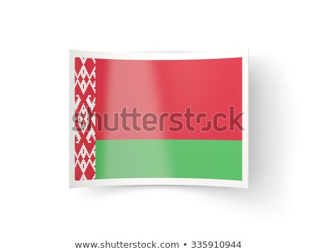 Bent icon with flag of belarus Stock photo © MikhailMishchenko