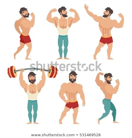 Body of muscular man Stock photo © Novic