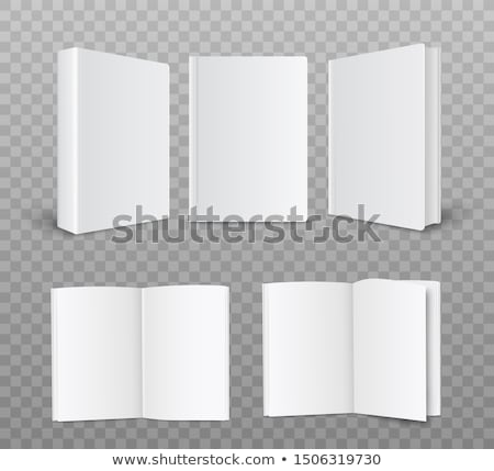 Empty paper booklet on white, side view Stock photo © cherezoff