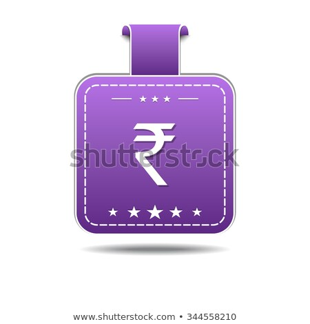 Rupee Sign Violet Vector Icon Design Stock photo © rizwanali3d