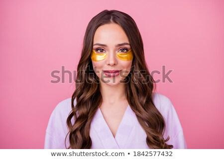 Girl Spa Bag Bathrobe Stock photo © lenm