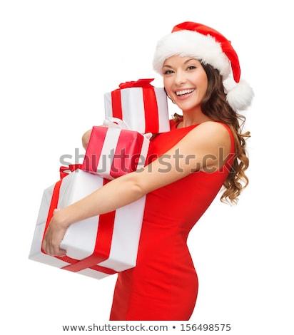 幸せ サンタクロース ヘルパー 少女 クリスマス 女性 ストックフォト © Kurhan