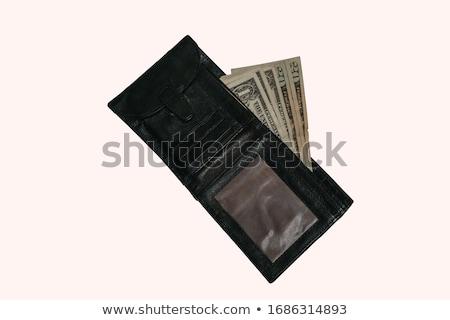 Nero portafoglio soldi segno finanziare mercato Foto d'archivio © shutswis
